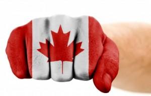 پرچم کانادا بر مشت