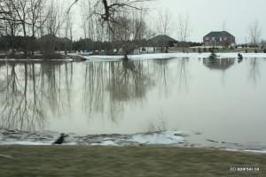 سطح آب رودخانه تمز بالاتر از حد معمول