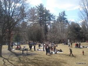 جمع ایرانیان در پارک لزلی