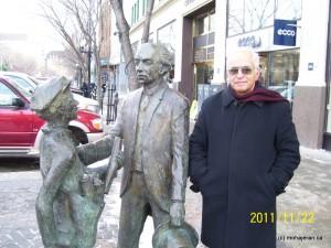 من و مجسمه لوریه نخست وزیر سابق کانادا