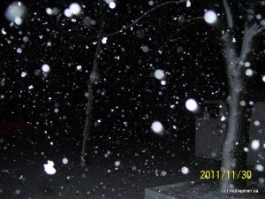 اولین برف زمستانی چاتام 2011