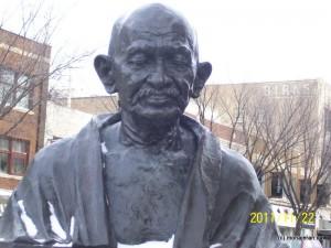 مجسمه گاندی در شهر سسکتون