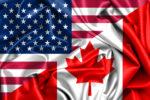 پرچم کانادا و آمریکا در کنار هم